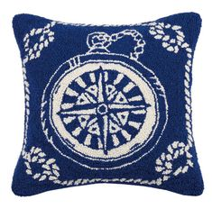 Nautical Rope Compass Hook Pillow