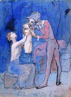 pablo picasso___harlequin s family 1905 1 Pablo Picasso, Picasso Blue, Guernica, Georges Braque, Max Ernst, Dora Maar, Body Drawing, Life Drawing, Gustav Klimt
