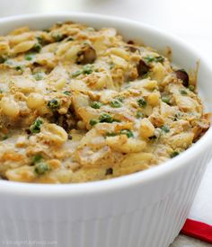 Tuno casserole. Sounds good! Macaroni, mushrooms, peas, garbanzos, almond milk and cashew sauce with other goodies. Must try this!