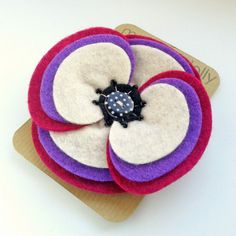 Retro Ripple Felt Flower Brooch by made by lolly WAS £16.00, NOW £6.40 #FinalClearance #Sale