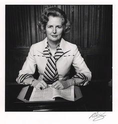 Margaret Thatcher by David Bailey, 1975