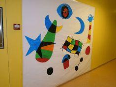 MIS TÉCNICAS PLÁSTICAS: MURAL DE JOAN MIRÓ Famous Artists, Great Artists, Joan Miro Pinturas, Projects For Kids, Art Projects, Artist Project, 4th Grade Art, Ecole Art, Mural Art