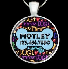 Custom Pet ID Tag  Insure the safe return of your by PoppysPets, $7.95