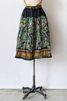 Vintage 1970s indian embroidered skirt