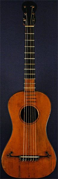 Early Musical Instruments, antique Baroque Guitar by Carlo Guadagnini around 1800