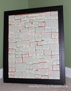 """My Gra 8 Life: Neat Sentimental Gift for Grandparent - """"Reasons We Love You"""""""