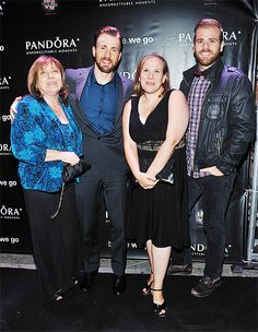 """""""Lisa Evans, Chris Evans, Carly Evans and Scott Evans attend the""""Before We Go"""" cocktail reception with Chris Evans presented by PANDORA Jewelry held at West Bar on September 12, 2014 in..."""