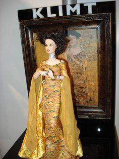 Klimt Barbie wearing a Adele Bloch -Bauer Dress