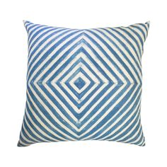 Diamond Striped Throw Pillow