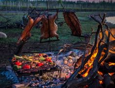 Star Argentine Chef Francis Mallmann brings his irreverent cuisine to Uco Valley. Asado Grill, Bbq Grill, Grilling, Pit Bbq, Churros, Francis Mallman, Open Fire Cooking, Fire Food, Real Fire