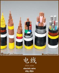 电线 - diàn xiàn - electric wire - dây điện