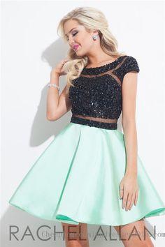Beaded Rachel Allan 4023 Short Homecoming Dresses