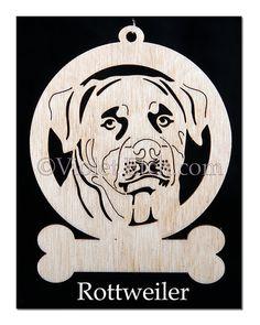 Rottweiler ornement-Rottweiler Rottweiler par VioletEtch sur Etsy