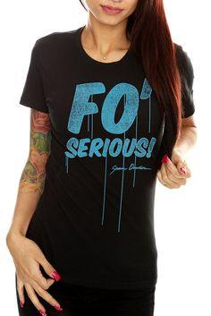Shane Dawson Fo' Serious Girls T-Shirt ($22.50 to 28.50 @ Hot Topic; if anyone knows if he is planning on making a Super Luv Shirt or if he already has, let me know cause I want one!)