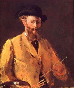 Auto-retrato com a paleta. Édouard Manet.