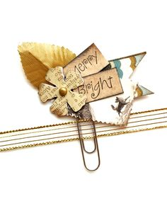 Merry & Bright Planner Clip by Jackie Benedict