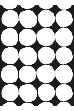 Marimekko Kivet Black / White Fabric Rocking it. The classic Kivet pattern by Maija and Kristina Isola is part of the Marimekko continuing collection due to its popularity. The design, which features rough hewn stones against a sol. Pretty Patterns, White Patterns, Floral Patterns, Dot Patterns, Textile Patterns, Textile Design, Marimekko Fabric, Black And White Fabric, Black White Pattern