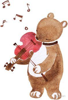 Bear Playing Violin