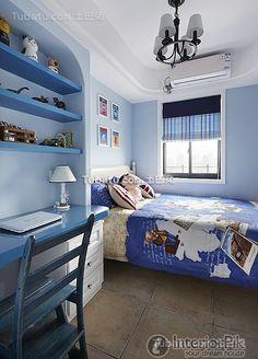 Fashion blue child room decoration 2016
