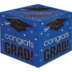 Blue Graduation Card Holder Box - Congrats Grad