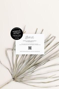Printable Wedding Website Card Template