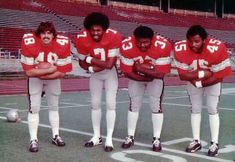 Brian Baschnagel, Cornelius Greene, Pete Johnson, Archie Griffin; Ohio State Offensive Backfield 1973 - Undefeatd, Rose Bowl Champs
