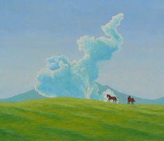RELAX画「阿蘇の牧場」[野沢嘉昭] | ART-Meter