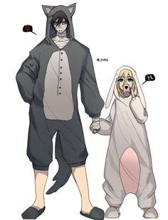 So cute Angels of Death art. Anime Angel, 5 Anime, Otaku Anime, Kawaii Anime, Anime Guys, Anime Love Couple, Cute Anime Couples, Anime Couples Cuddling, Anime Couples Sleeping