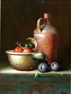 by Willie Berkers (artist) Still Life Drawing, Painting Still Life, Still Life Art, Images D'art, Still Life Images, Fruit Painting, Fruit Art, Still Life Photography, Painting Inspiration