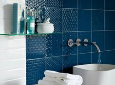A mix of 6 patterns that create a retro feel. Available in 6 striking colours. #tiles #colour #retro #design #pattern