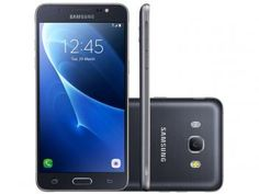 "Smartphone Samsung Galaxy J5 Metal 16GB Preto - Dual Chip 4G Câm 13MP + Selfie 5MP Flash Tela 5,2"""