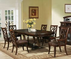 Keenan Double Pedestal Table Dining Room Set by Acme Furniture - Home Gallery Stores