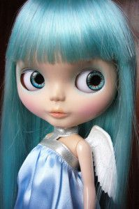 OOAK custom Blythe doll by SAM, Aqua Ice Blue Angel