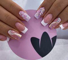 Diva Nails, Chic Nails, Gel Nails, Pink Nail Art, Best Acrylic Nails, Fabulous Nails, Beauty Nails, Pretty Nails, Nail Colors