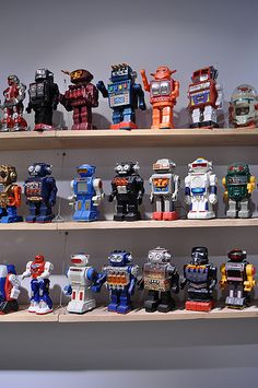 Collection of Space Toy Robots,