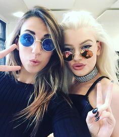 Loving @alicechater Sunnies on set for today's shoot 😎✌🏼️ #styling @imsophietaylor #makeup @makeupbycmt #hair @adam_hairstylist @cloudninec9 #studio @feelsbediscovered #london #bts #behindthescenes #alicechater #photographer #work #onset #love #sunglasses #wishingitwassummer