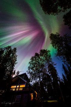 Dazzling auroral cascade taken September 12, 2014 near Vieremä, Savo, Finland.