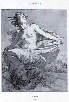Soleil, by Alphonse Mucha for Cocorico magazine, April 1899 | Alphonse Mucha Estate ©