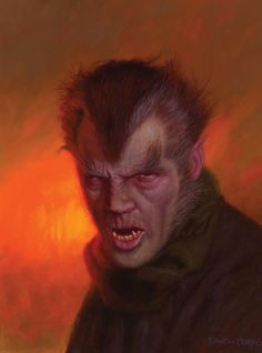 Werewolf of London Movie Monster Portraits by Daniel Horne Classic Monster Movies, Classic Horror Movies, Classic Monsters, Cool Monsters, Famous Monsters, Arte Horror, Horror Art, Horror Films, The Frankenstein