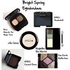 A beauty collage from January 2015 featuring maybelline eyeshadow, stila eyeshadow and nars cosmetics. Browse and shop related looks. Bright Spring, Clear Spring, Clear Winter, Warm Spring, Spring Color Palette, Spring Colors, Beauty And The Bees, Seasonal Color Analysis, Spring Makeup