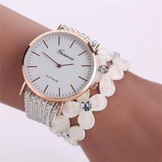 Women s Casual Elegant Crystal Diamond Quartz Bracelet Wrist Watch 27aa455f4b