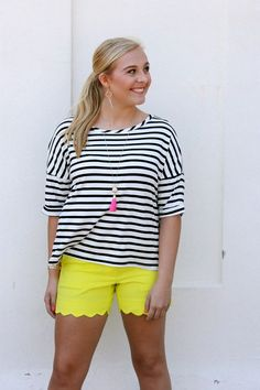 Cabana Stripes Tee from Sugar Boutique // $28 // www.scsugar.com