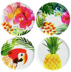 Margaret Berg Art: Jungle Tropics Plate Set