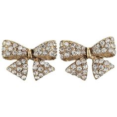 Rhinestone Bow Post Earring ($8) ❤ liked on Polyvore featuring jewelry, earrings, accessories, drusy jewelry, rhinestone jewelry, earring jewelry, gold colored earrings and gold tone jewelry