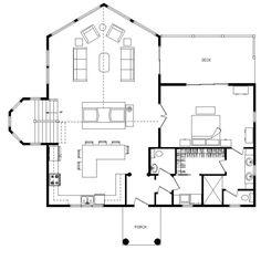 Laredo - Log Homes, Cabins and Log Home Floor Plans - Wisconsin Log Homes