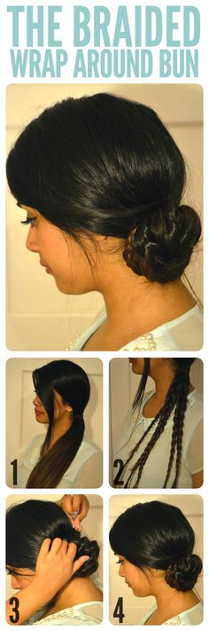 THE BRAIDED WRAP AROUND SIDEBUN-Top 15 Easy-To-Make Braids Tutorials