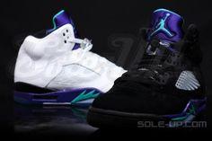 #WeddingShoes #FellInLoveWithASneakerhead Air Jordan V Grape  Black Grape