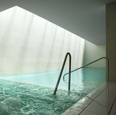 Architectural daylighting, indoor pool at the Principe Dei Marni hotel in Italy