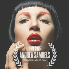 VFiles Makeup Winner for FW2015 Fashion Competition Andrea Samuels
