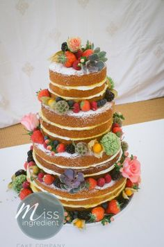Nude wedding cake